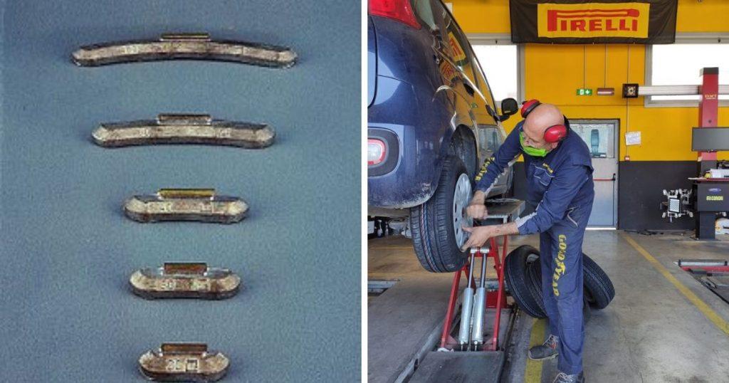 pesi per equilibratura pneumatici